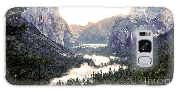 Tunnel View At Dawn In Yosemite National Park Galaxy Case by MaryJane Armstrong