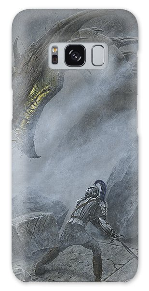 Galaxy Case featuring the painting Turin Turambar Confronts Glaurung At The Ruin Of Nargothrond by Kip Rasmussen