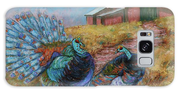 Galaxy Case featuring the painting Turkey Tom's Tango by Xueling Zou