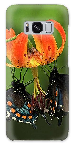 Turks Cap Lilly And Butterflies, Blue Ridge Parkway Galaxy Case