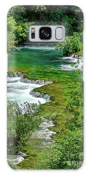 Turqouise Waterfalls Of Skradinski Buk At Krka National Park In Croatia Galaxy Case
