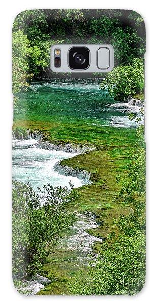 Turqouise Waterfalls Of Skradinski Buk At Krka National Park In Croatia Galaxy Case