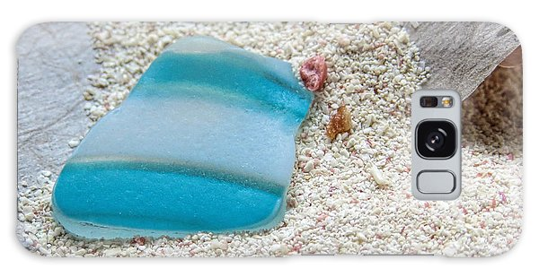 Turquoise And White Sea Glass Galaxy Case