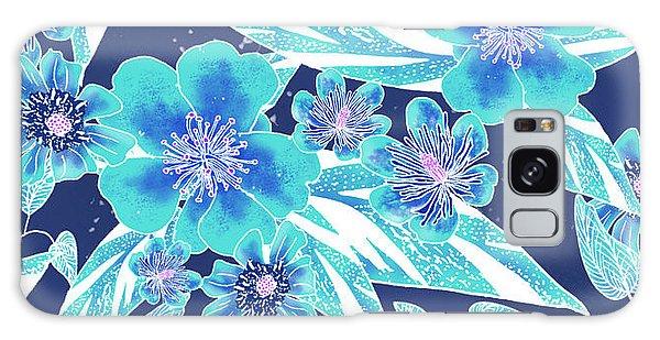 Turquoise Batik Tile 2 - Bidens Galaxy Case