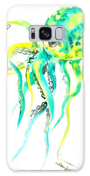 Turquoise Green Octopus Galaxy Case