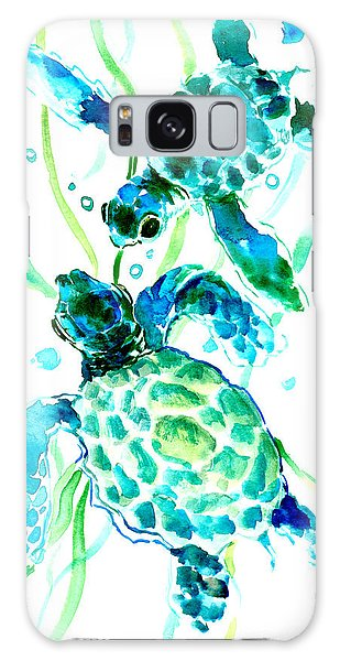 Florida Galaxy Case - Turquoise Indigo Sea Turtles by Suren Nersisyan
