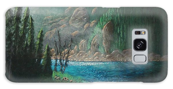 Turquoise River Galaxy Case