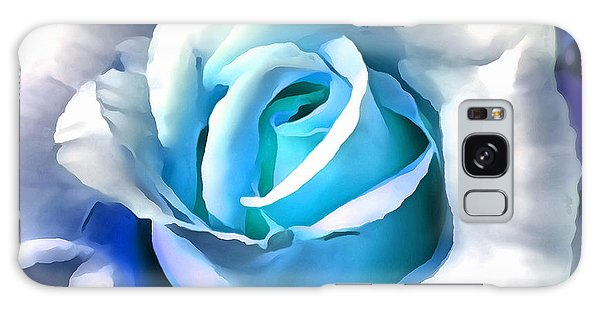 Turquoise Rose Galaxy Case