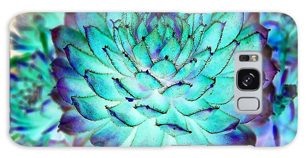 Galaxy Case featuring the photograph Turquoise Succulent 2 by Marianne Dow