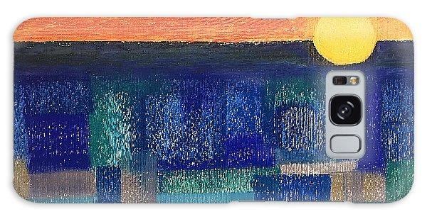 Turquoise Sunset Galaxy Case