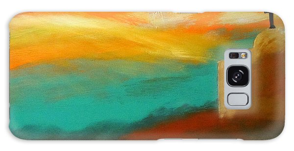 Turquoise Trail Sunset Galaxy Case
