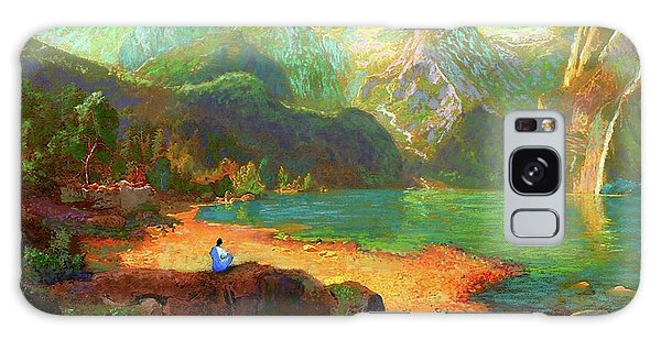 Mountain Lake Galaxy Case - Turquoise Tranquility Meditation by Jane Small