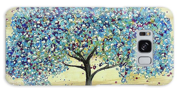Turquoise Tree Galaxy Case