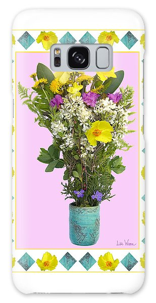 Turquoise Vase With Spring Bouquet Galaxy Case by Lise Winne