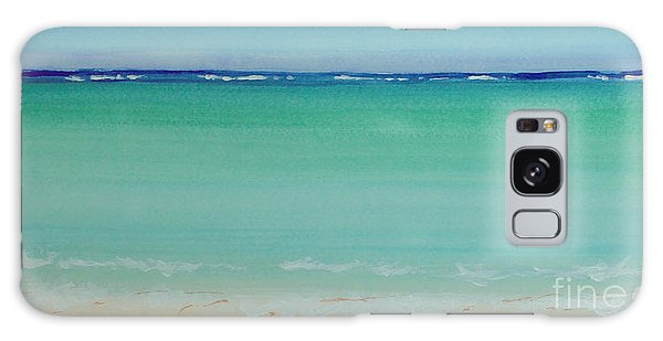 Turquoise Waters Long Abstract Galaxy Case