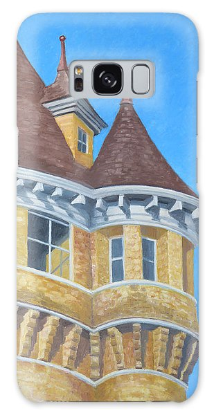Galaxy Case featuring the drawing Turrets Of Lawson Tower by Dominic White
