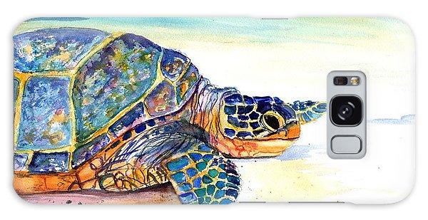 Turtle At Poipu Beach 2 Galaxy Case by Marionette Taboniar