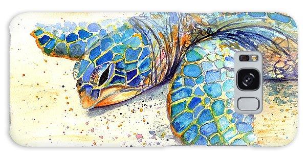 Turtle At Poipu Beach 4 Galaxy Case by Marionette Taboniar