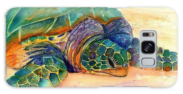 Turtle At Poipu Beach 7 Galaxy Case by Marionette Taboniar