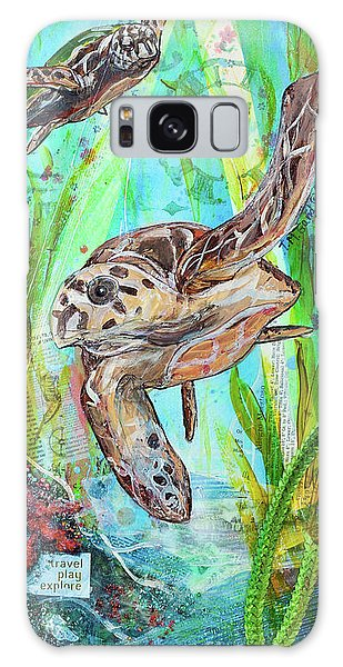 Galaxy Case featuring the painting Turtle Cove by TM Gand