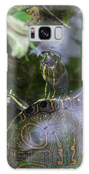 Turtle Getting Some Air Galaxy Case