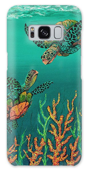 Galaxy Case featuring the painting Turtle Love by Darice Machel McGuire