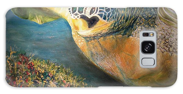 Galaxy Case featuring the painting Turtle Run by Karen Zuk Rosenblatt