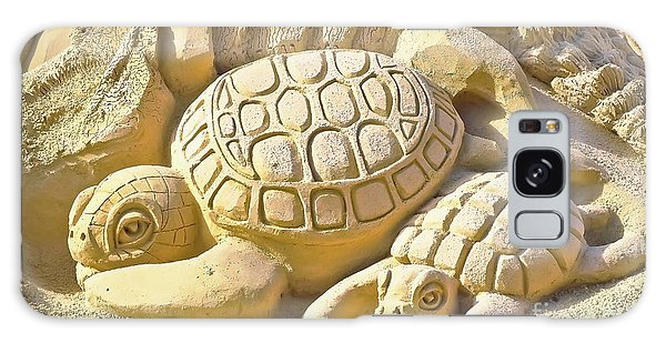 Turtle Sand Castle Sculpture On The Beach 999 Galaxy Case