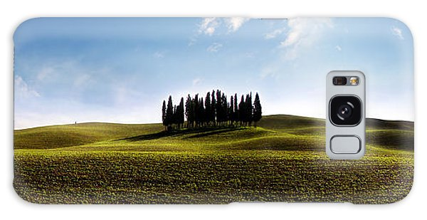 Tuscan Cypress Tree Galaxy Case