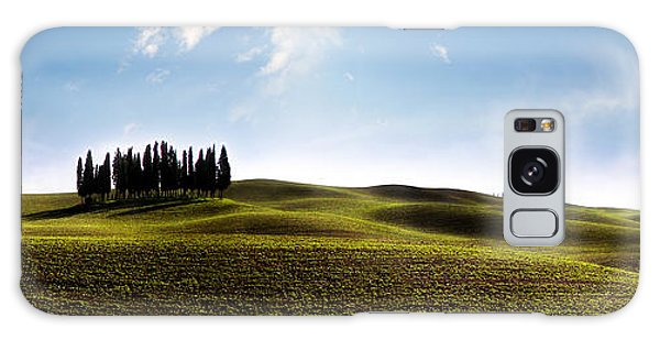 Tuscan Cypress Tree Galaxy Case