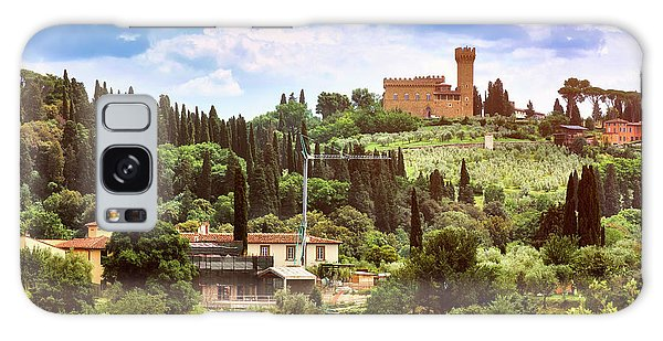 Tuscan Fields And Old Castle In Florence Galaxy Case