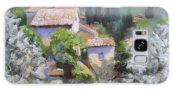 Tuscan  Hilltop Village Galaxy Case