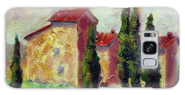 Tuscan House With Hay Galaxy Case