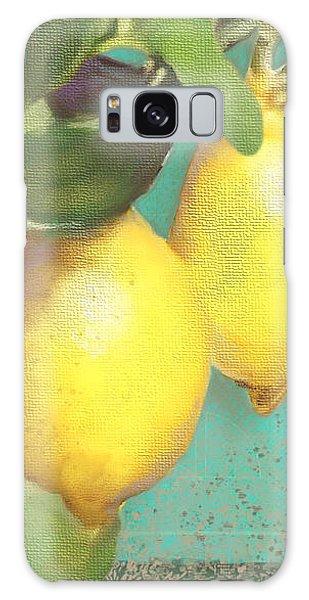 Tuscan Lemon Tree - Citrus Limonum Damask Galaxy Case