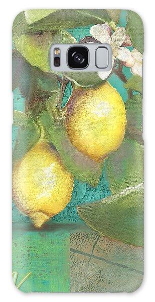 Tuscan Lemon Tree - Damask Pattern 2 Galaxy Case