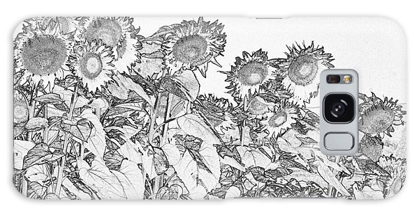 Galaxy Case - Tuscan Sunflowers Pen And Ink 4749 by Bob Neiman