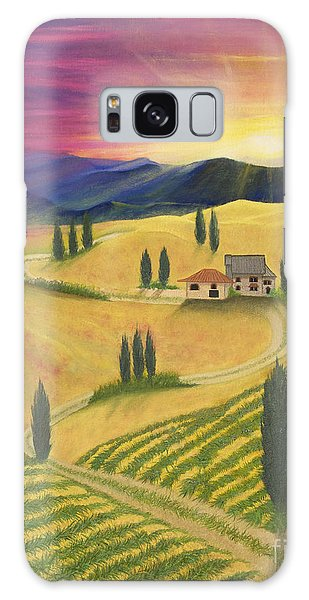 Tuscan Sunset B Galaxy Case