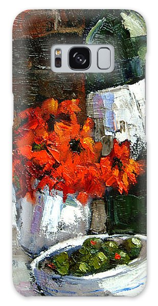 Tuscan Table Galaxy Case by Carole Foret