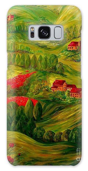 Tuscany At Dawn Galaxy Case by Eloise Schneider