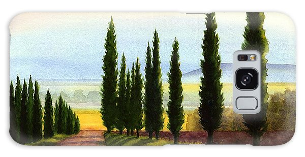 Tuscany Cypress Trees Galaxy Case by Janet King