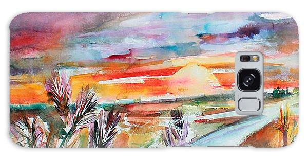 Tuscany Landscape Autumn Sunset Fields Of Rye Galaxy Case