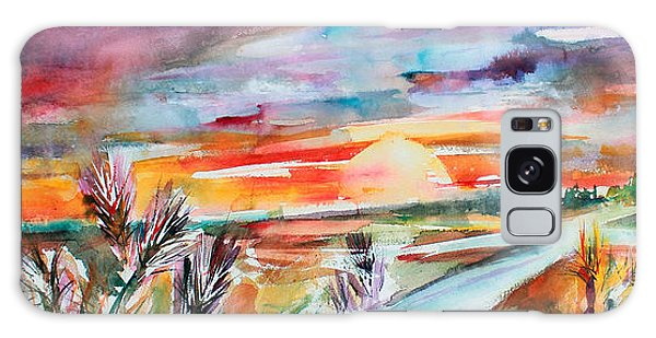 Tuscany Landscape Autumn Sunset Fields Of Rye Galaxy Case by Ginette Callaway