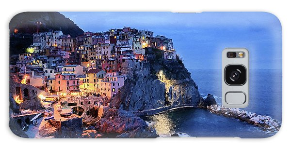 Galaxy Case featuring the mixed media Tuscany Like Amalfi Cinque Terre Evening Lights by Rosario Piazza