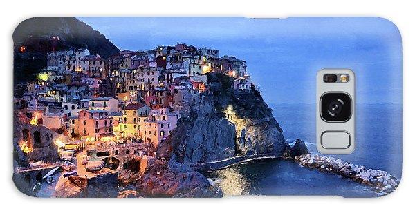 Tuscany Like Amalfi Cinque Terre Evening Lights Galaxy Case
