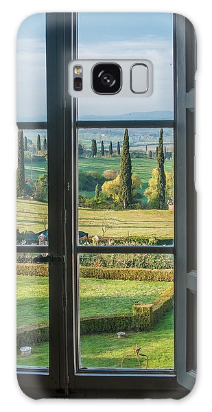 Tuscany Out My Window Galaxy Case