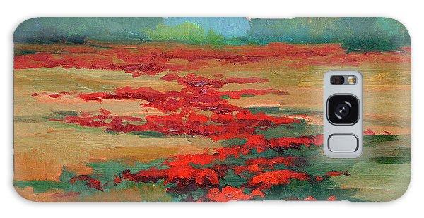 Tuscany Poppy Field Galaxy Case
