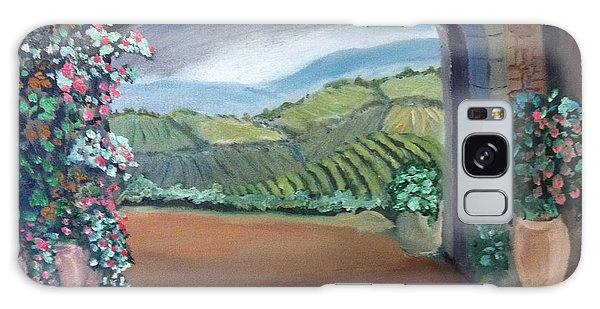 Tuscany Vineyards Through The Archway Galaxy Case
