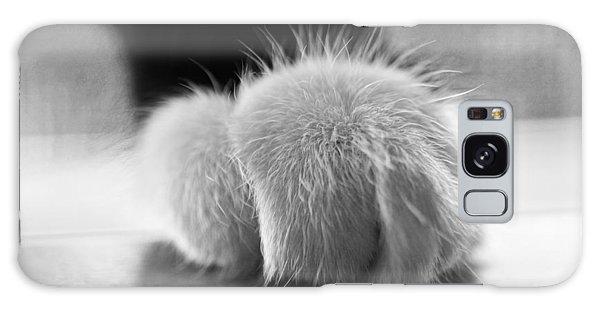 Tuxedo Cat Paw Black And White Galaxy Case