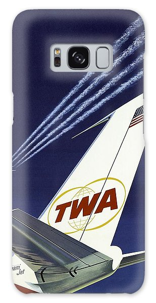 Twa Star Stream Jet - Minimalist Vintage Advertising Poster Galaxy Case