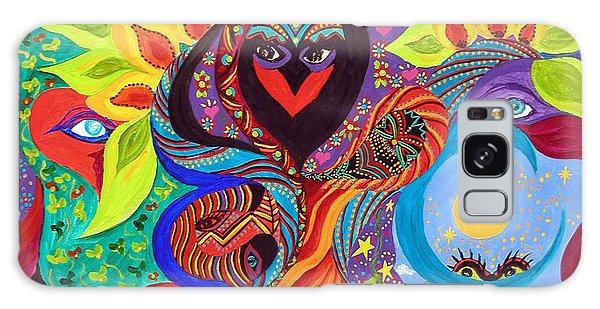 Lovebirds Galaxy Case by Marina Petro